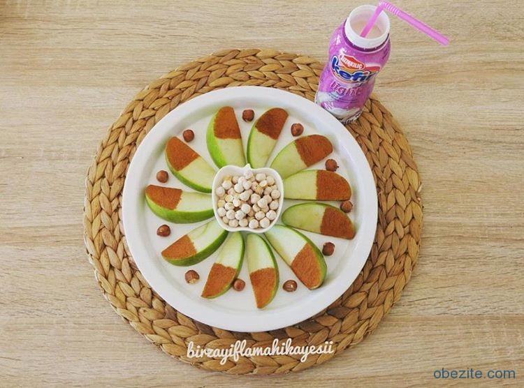 Diyette meyve tabağı ve kefir