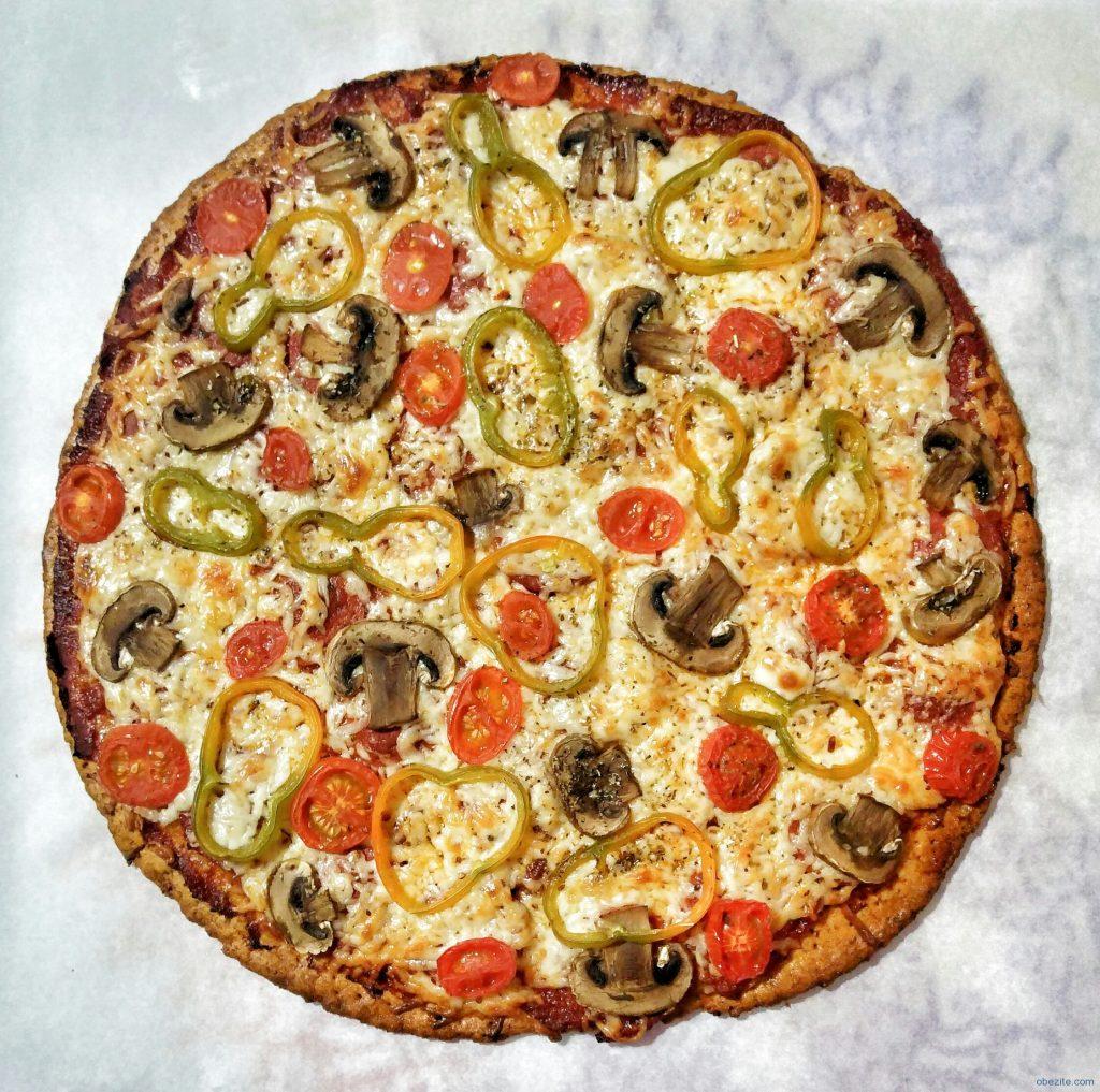 Pizza fırından sonraki pişmiş hali