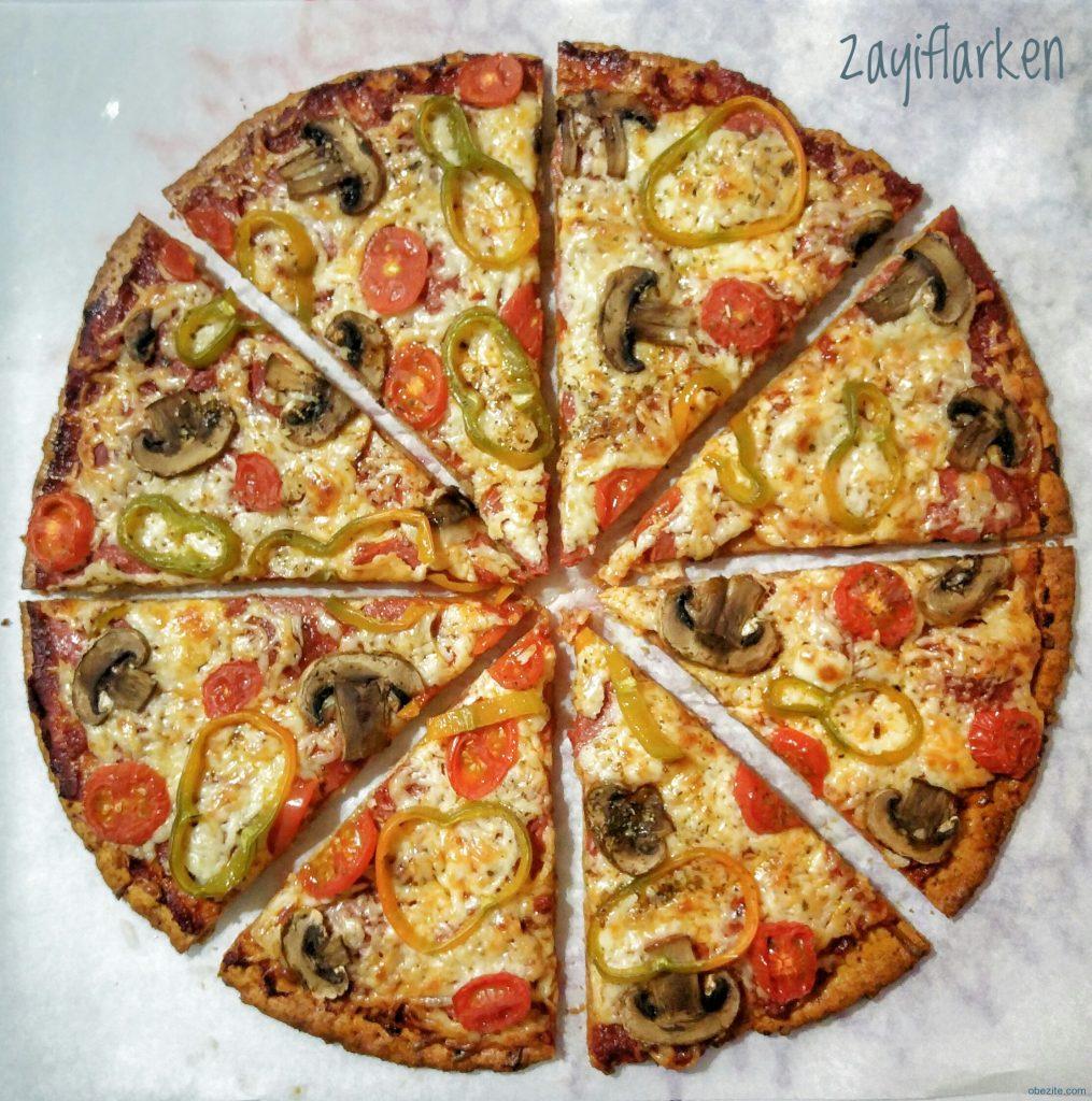 Pizzanın üçgen kesilmiş hali