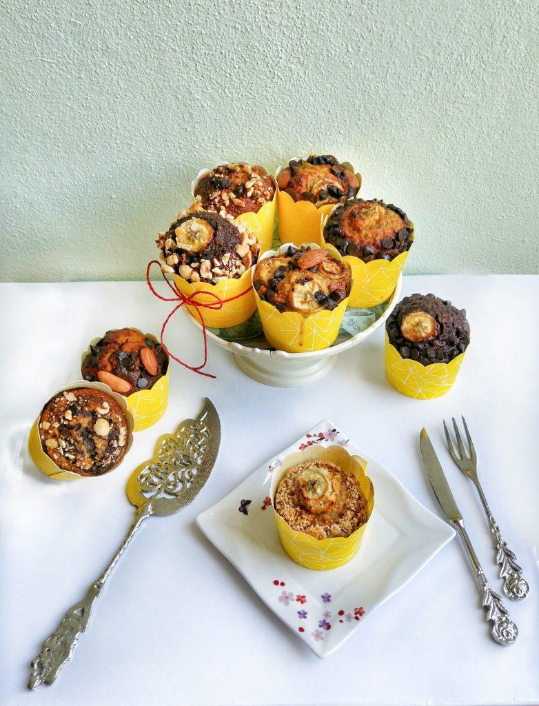 Muzlu ve leblebili muffin