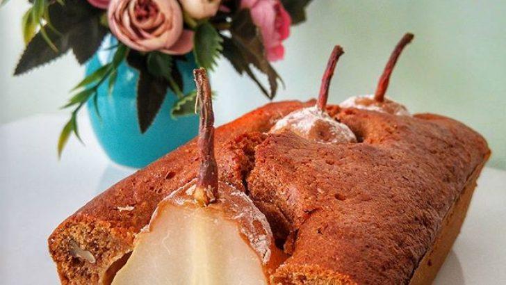Armutlu Şekersiz Kek (Resimli Anlatım)